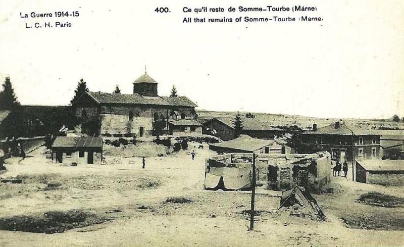 Somme-Tourbe après la guerre de14-18